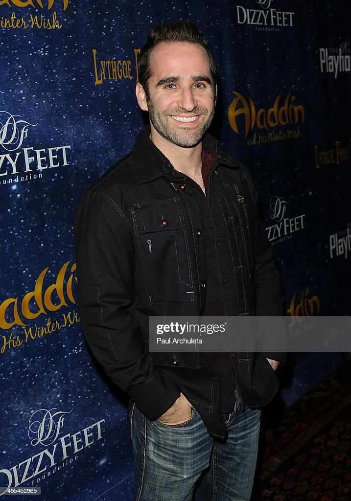 Actor Ben Giroux attends the opening night of 'Aladdin And His Winter Wish' at the Pasadena Playhouse on December 11, 2013 in Pasadena, California.