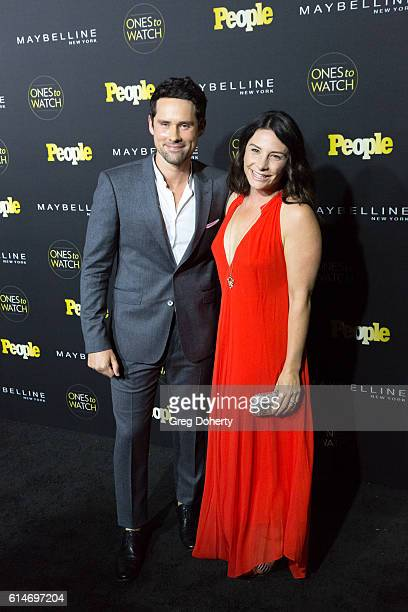 "Actor Ben Hollingsworth and Designer Nila Myers arrive at the People's ""Ones To Watch"" party at E.P. & L.P. On October 13, 2016 in West Hollywood,..."