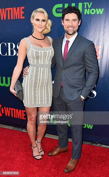 Actor Ben Hollingsworth and Nila Myers attend CBS' 2015 Summer TCA party at the Pacific Design Center on August 10 2015 in West Hollywood California