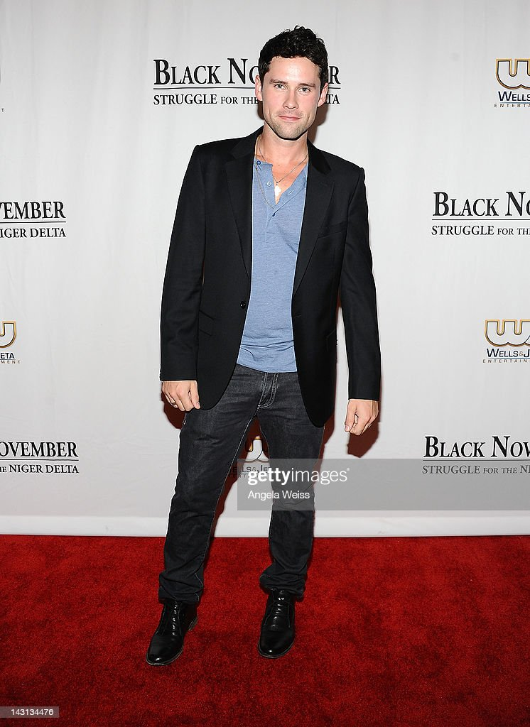 Actor Ben Hollingsworth attends the 'Black November' screening on April 18, 2012 in Beverly Hills, California.