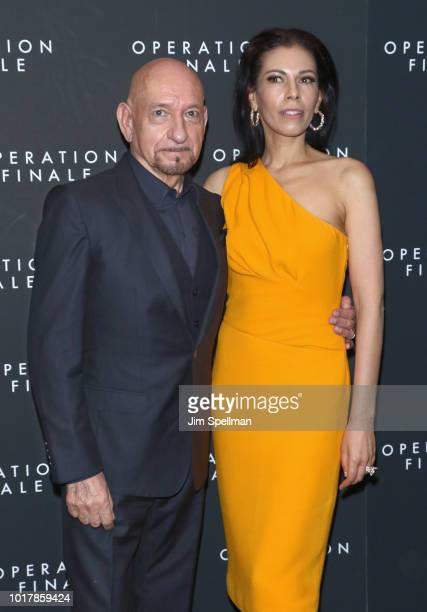 Actor Ben Kingsley and Daniela Lavender attend the Operation Finale New York premiere at Walter Reade Theater on August 16 2018 in New York City