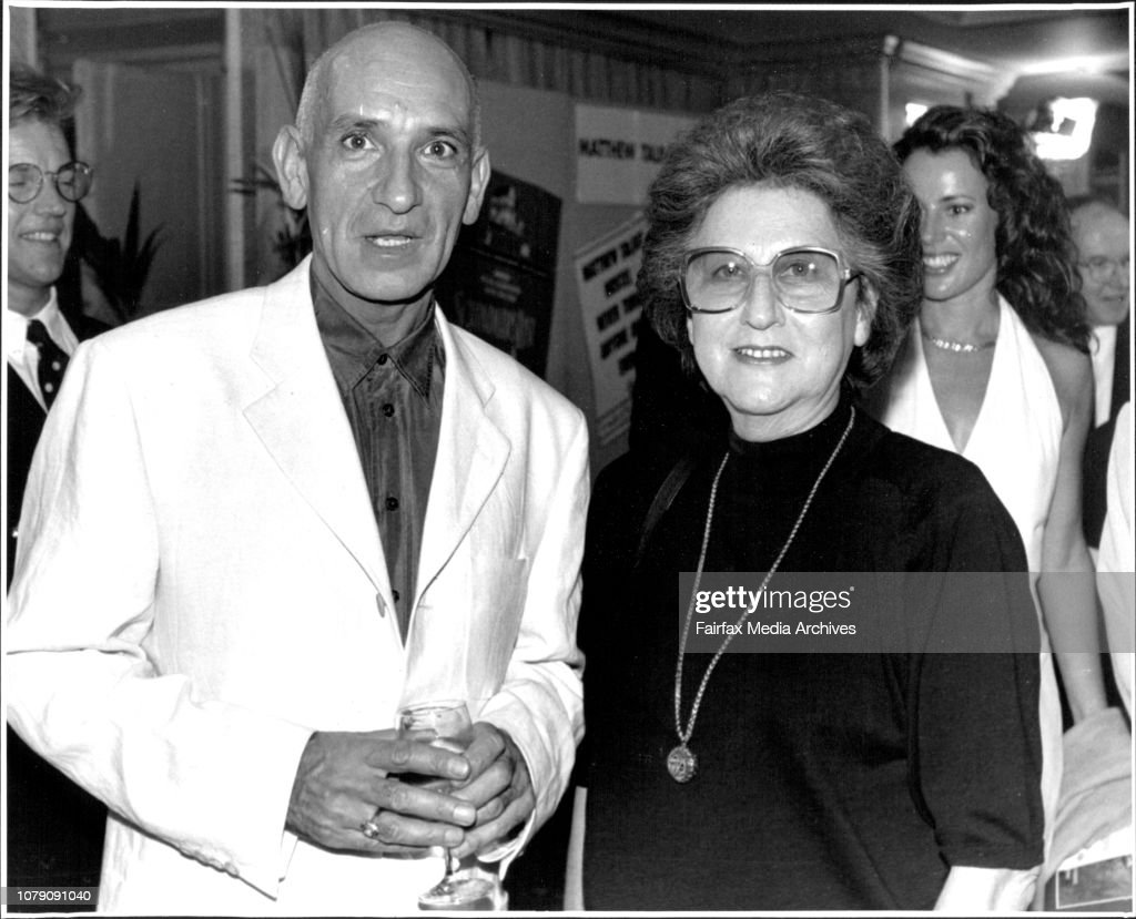 Actor Ben Kingsley and Marika Weinberger at the party to celebrate the film's premiere.The champagne, canapes and celebrity conversation at the reception before yesterday's Australian premiere of the film Schindler's List were a far cry from the lice-ridd : News Photo