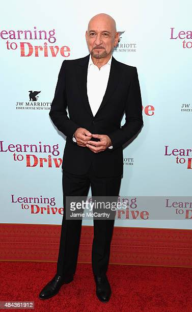 Actor Ben Kingsley attends the New York premiere of 'Learning To Drive' at The Paris Theatre on August 17 2015 in New York City