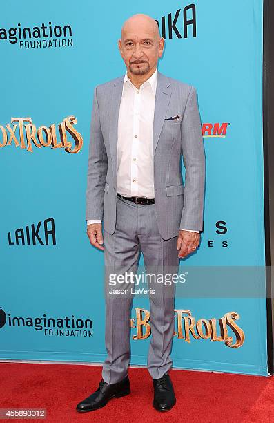 Actor Ben Kingsley attends the premiere of 'The Boxtrolls' at Universal CityWalk on September 21 2014 in Universal City California