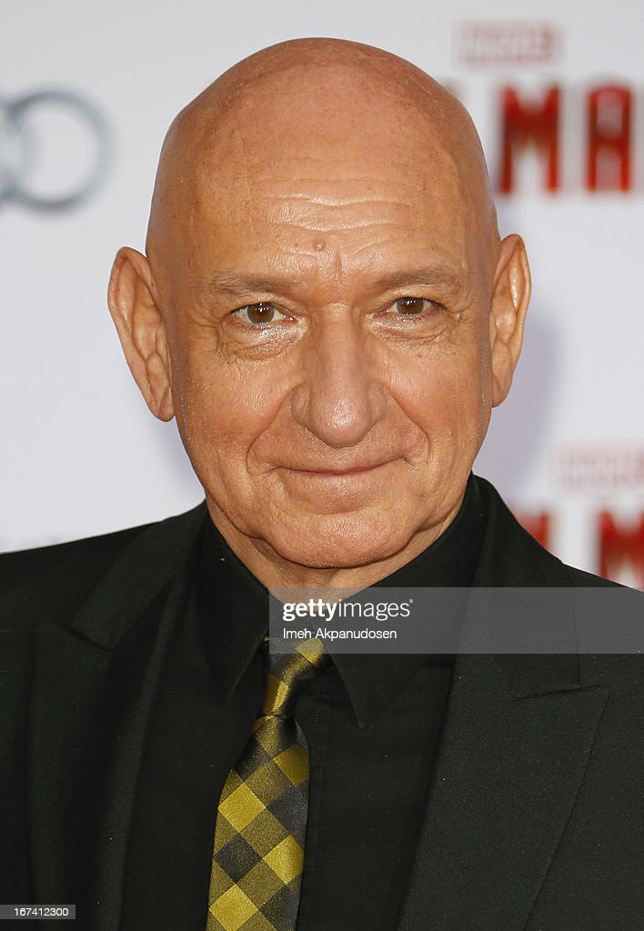Actor Ben Kingsley attends the premiere of Walt Disney Pictures' 'Iron Man 3' at the El Capitan Theatre on April 24, 2013 in Hollywood, California.