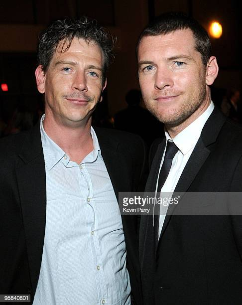 Actor Ben Mendelsohn and actor Sam Worthington attend the G'Day USA 2010 Black Tie gala at the Hollywood Highland Center on January 16 2010 in...