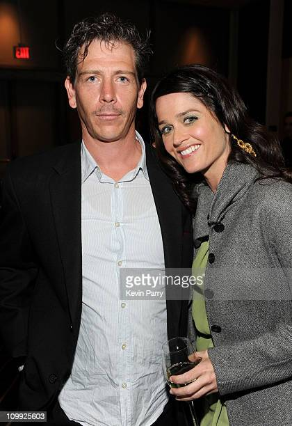Actor Ben Mendelsohn and actress Robin Tunney attend the G'Day USA 2010 Black Tie gala at the Hollywood Highland Center on January 16 2010 in...