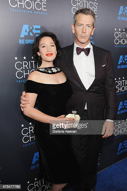 Actor Ben Mendelsohn and Emma Nadine Forrest attend the 5th Annual Critics' Choice Television Awards at The Beverly Hilton Hotel on May 31 2015 in...