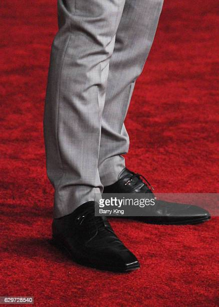 Actor Ben Mendelsohn shoe detail attends the premiere of Walt Disney Pictures and Lucasfilms' 'Rogue One A Star Wars Story' at the Pantages Theatre...