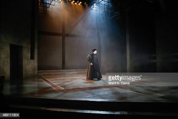 "Actor Ben Miles participates in the ""Wolf Hall"" Opening Night Curtain Call at Winter Garden Theatre on April 9, 2015 in New York City."