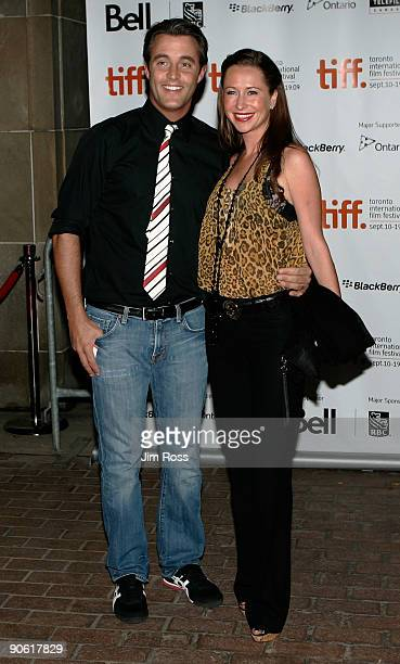 Actor Ben Mulroney and wife Jessica Brownstein arrive at the The Trotsky screening during the 2009 Toronto International Film Festival held at the...