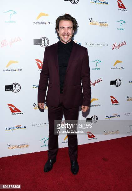 Actor Ben O'Toole arrives at The 9th Annual Australians In Film Heath Ledger Scholarship Dinner at the Sunset Marquis Hotel on June 1 2017 in West...