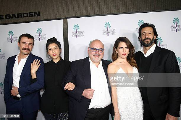 Actor Ben O'Toole Director Catalina Aguilar producer Francisco Gonzalez Compean actors Karla Souza and Jose Maria Yazpik attend the screening of...