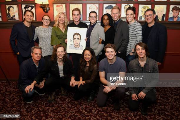 Actor Ben Platt and director Michael Greif attend a Ben Platt's caricature unveiling at Sardi's on May 30 2017 in New York City