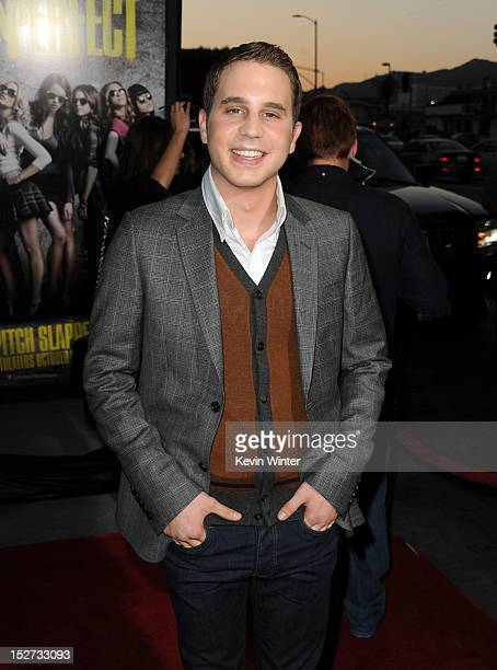 Actor Ben Platt arrives at the premiere of Universal Pictures And Gold Circle Films' Pitch Perfect at ArcLight Cinemas on September 24 2012 in...