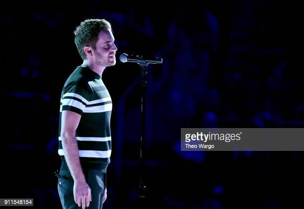 Actor Ben Platt performs onstage during the 60th Annual GRAMMY Awards at Madison Square Garden on January 28 2018 in New York City