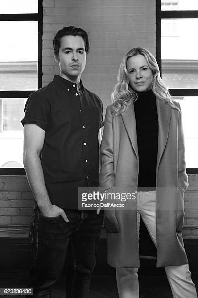 Actor Ben Schnetzer and actress Maria Bello are photographed for MovieMaker Magazine on September 10 2016 in Toronto Canada