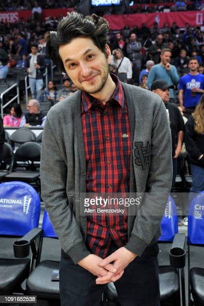 Actor Ben Schwartz attends a basketball game between the Los Angeles Clippers and the Charlotte Hornets at Staples Center on January 08 2019 in Los...