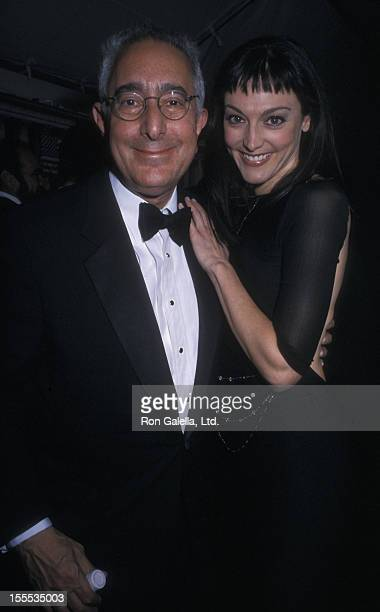 Actor Ben Stein and actress Nancy Pimental attend 29th Annual Daytime Emmy Awards on May 17, 2002 at Madison Square Garden in New York City.