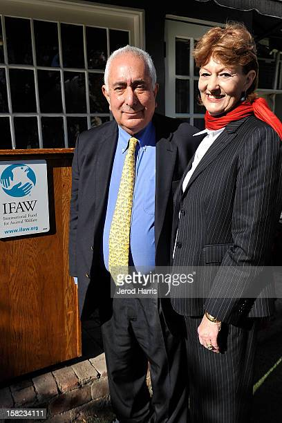 Actor Ben Stein and wife Alexandra Denman join the International Fund for Animal Welfare at a press conference urging consumers not to buy puppies...