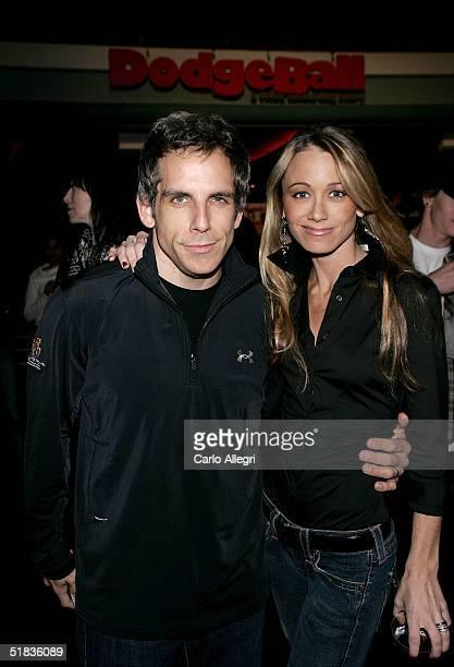 Actor Ben Stiller and actress Christine Taylor attend Dodgeball The Celebrity Tournament to benefit the Elizabeth Glaser Pediatric Aids Foundation...