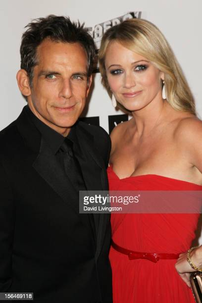 Actor Ben Stiller and actress Christine Taylor attend the 26th American Cinematheque Award Gala honoring Ben Stiller at The Beverly Hilton Hotel on...