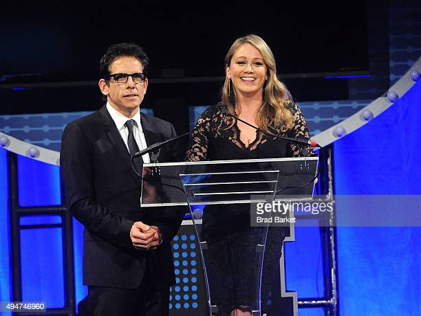 Actor Ben Stiller and Christine Taylor attend the 17th Annual Project ALS New York City Gala at Cipriani 42nd Street on October 28 2015 in New York...