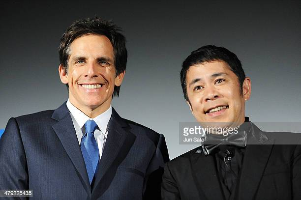Actor Ben Stiller and comedian/voice over cast Takashi Okamura attend the Tokyo Premiere of The Secret Life of Walter Mitty at Roppongi Hills on...