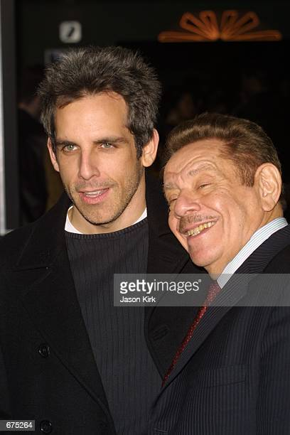 Actor Ben Stiller and his dad Jerry Stiller arrive at the premiere of The Independent December 4, 2001 in West Hollywood, CA.