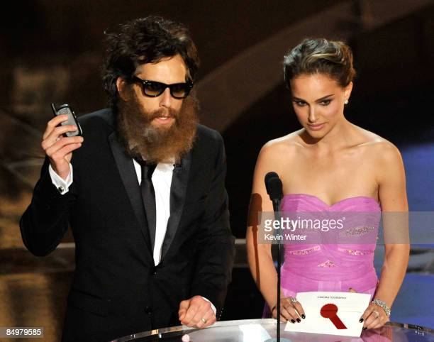 Actor Ben Stiller and Natalie Portman present on stage during the 81st Annual Academy Awards held at Kodak Theatre on February 22 2009 in Los Angeles...