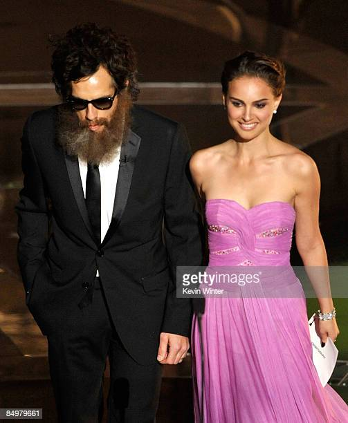 Actor Ben Stiller and Natalie Portman walk on stage during the 81st Annual Academy Awards held at Kodak Theatre on February 22 2009 in Los Angeles...