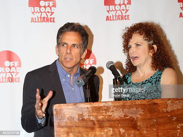 Actor Ben Stiller and sister Actress Amy Stiller attend the 2016 Off Broadway Alliance Awards where Stiller's mother Anne Meara was posthumously...