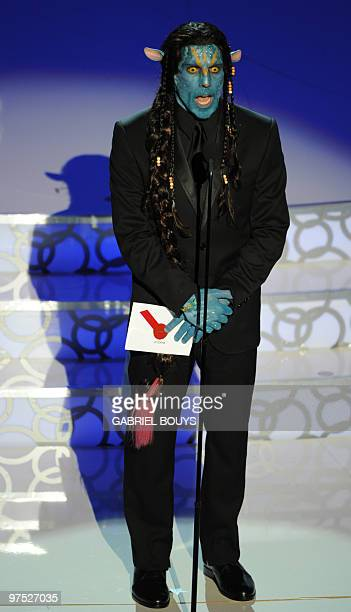 Actor Ben Stiller announces the Best MakeUp at the 82nd Academy Awards at the Kodak Theater in Hollywood California on March 07 2010 AFP PHOTO...