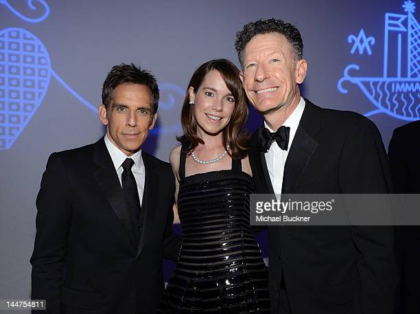 Actor Ben Stiller April Kimble and Lyle Lovett attend the Haiti Carnival in Cannes Benefitting J/P HRO Artists for Peace and Justice Happy Hearts...