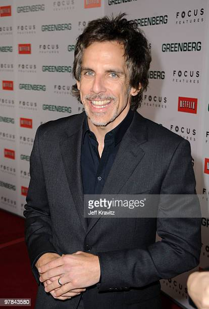 Actor Ben Stiller arrives at the premiere of 'Greenberg' presented by Focus Features at ArcLight Hollywood on March 18 2010 in Hollywood California