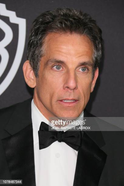 US actor Ben stiller arrives for the Warner Bros and In Style 20th annual post Golden Globes party at the Oasis Courtyard of the Beverly Hilton hotel...
