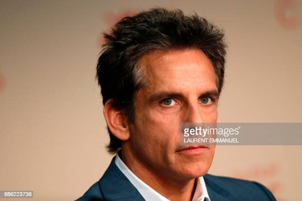 US actor Ben Stiller attends a press conference for the film 'The Meyerowitz Stories ' at the 70th edition of the Cannes Film Festival in Cannes...