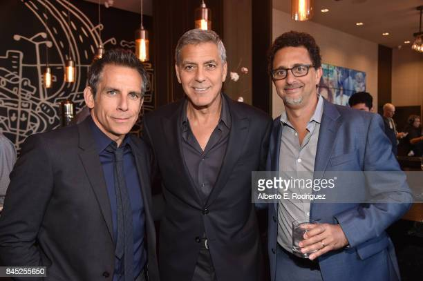 Actor Ben Stiller Director George Clooney and Producer Grant Heslov attend Entertainment Weekly's Must List Party during the Toronto International...