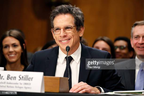 Actor Ben Stiller goodwill ambassador for UNHCR United Nations Refugee Agency testifies at a Senate Foreign Relations Committee Hearing on the...