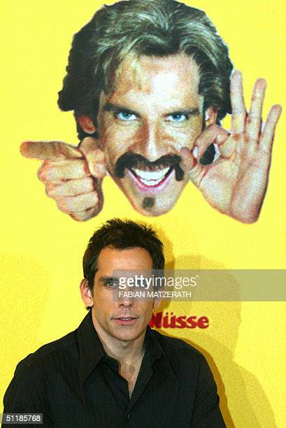 US actor Ben Stiller poses during a photocall in Berlin 18 August 2004 prior to the German premiere of his film 'Dodgeball' The story plays on a...
