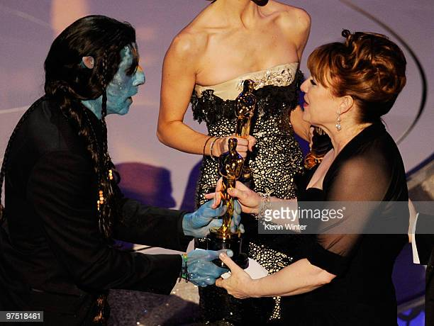 Actor Ben Stiller presents makeup artists Mindy Hall accepts the Best Makeup award for Star Trek onstage during the 82nd Annual Academy Awards held...