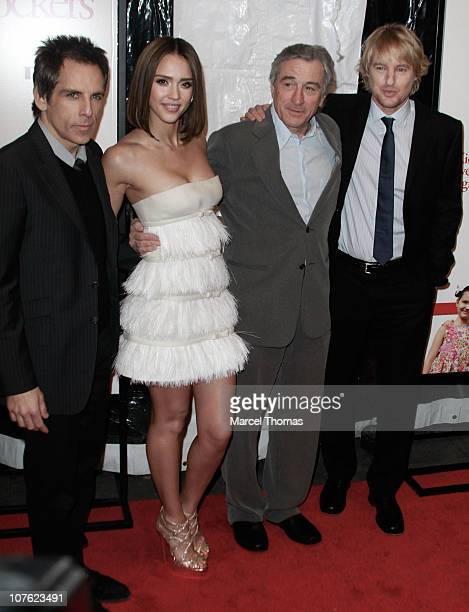 Actor Ben Stilleractress Jessica Alba and actors Robert De Niro and Owen Wilson attend the world premiere of 'Little Fockers' at the Ziegfeld Theatre...