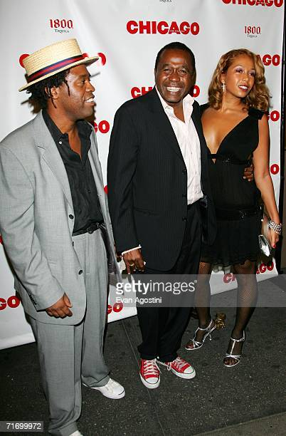 Actor Ben Vereen his son Benji Vereen and daughter Karon Vereen attend the Broadway opening night of Chicago at the Ambassador Theatre August 22 2006...