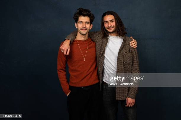 Actor Ben Whishaw and director Aneil Karia from 'Surge' are photographed in the LA Times Studio at the Sundance Film Festival on January 25 2020 in...