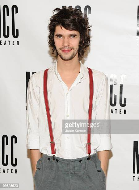 Actor Ben Whishaw attends a meet and greet with the cast of The Pride at the Manhattan Theatre Club Rehearsal Studios on January 7 2010 in New York...