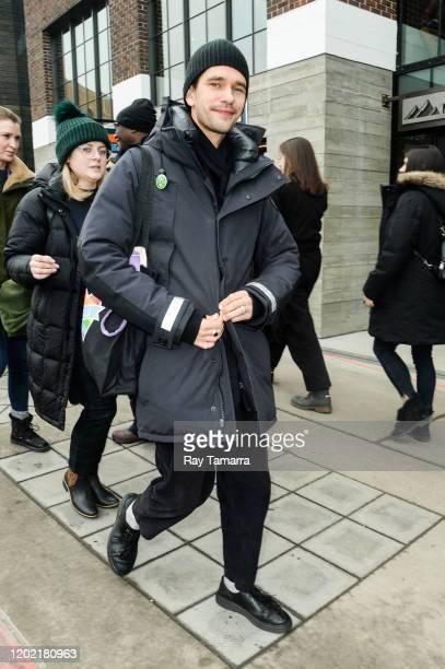 Actor Ben Whishaw walks on Main Street on January 26 2020 in Park City Utah