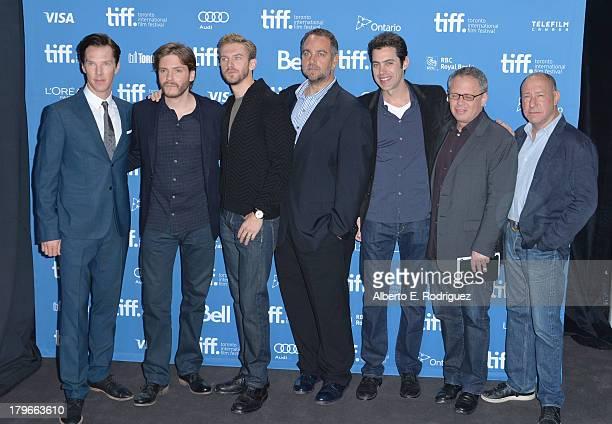 Actor Benedict Cumberbatch actor Daniel Bruhl actor Dan Stevens producer Michael Sugar screenwriter Josh Singer director Bill Condon and producer...