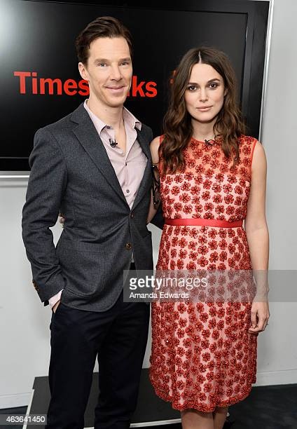 Actor Benedict Cumberbatch and actress Keira Knightley attend the Times Talks and TIFF In Los Angeles discussion of The Imitation Game at The Paley...