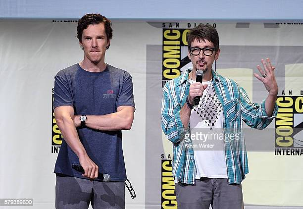 Actor Benedict Cumberbatch and director Scott Derrickson attend the Marvel Studios presentation during Comic-Con International 2016 at San Diego...