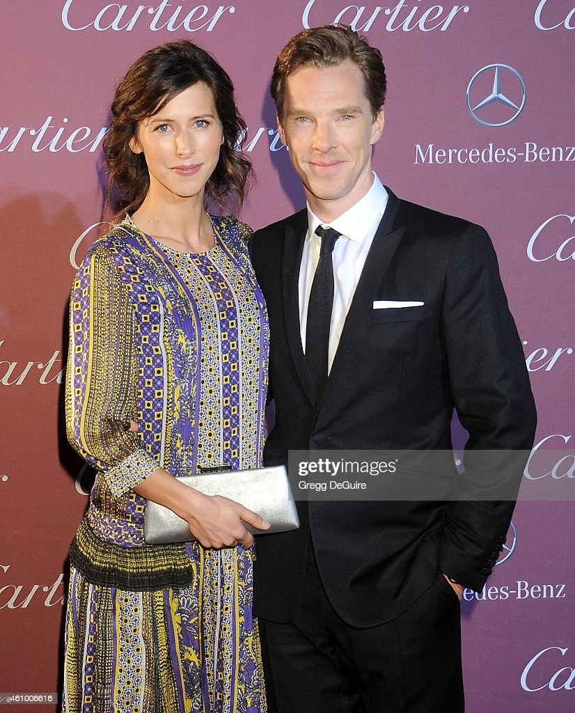 Actor Benedict Cumberbatch and Sophie Hunter arrive at the 26th Annual Palm Springs International Film Festival Awards Gala Presented By Cartier at Palm Springs Convention Center on January 3, 2015 in Palm Springs, California.